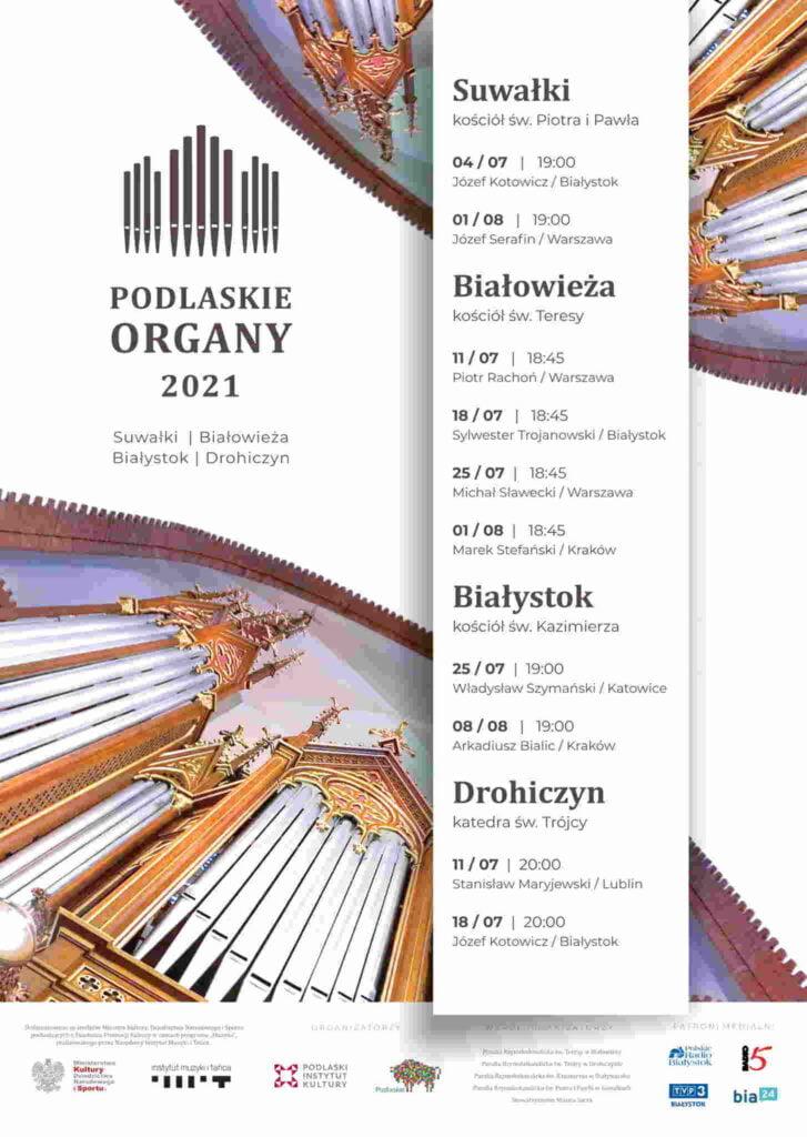 podlaskie organy - plakat