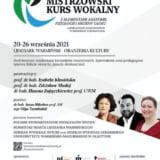 II międzynarodowy kurs wokalny Lidzbark Warmiński