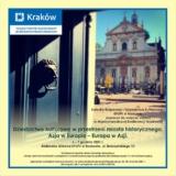 Dziedzictwo kulturowe w przestrzeni miasta historycznego Kraków