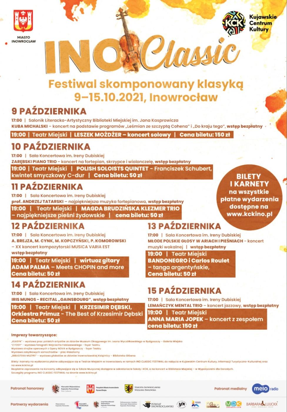 Ino Classic Festiwal 2021 - program