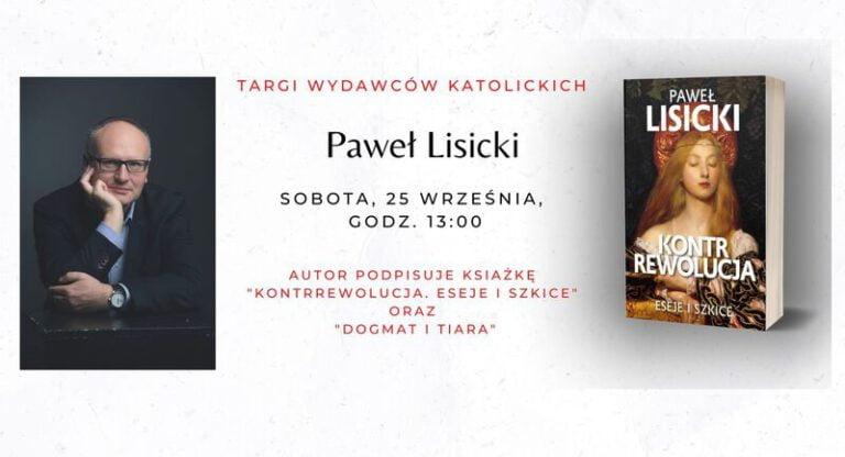 Paweł Lisicki na Targach Wydawców 2021 Warszawa