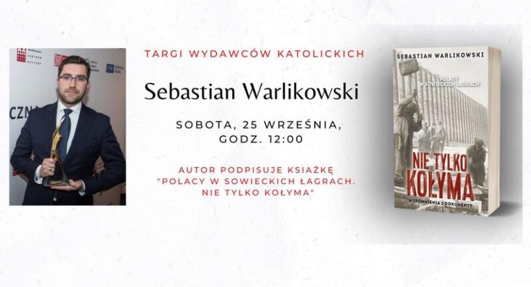 Sebastian Warlikowski na Targach Wydawców Katolickich